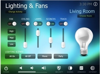 RTI Panel IPad Lighting Control
